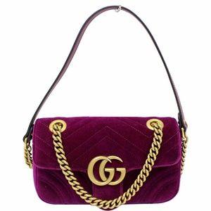GUCCI GG Marmont Velvet Mini Crossbody Bag